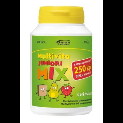 Multivita Juniori MIX Monivitamiini Tölkki, Kampanjapakkaus 250 purutabl