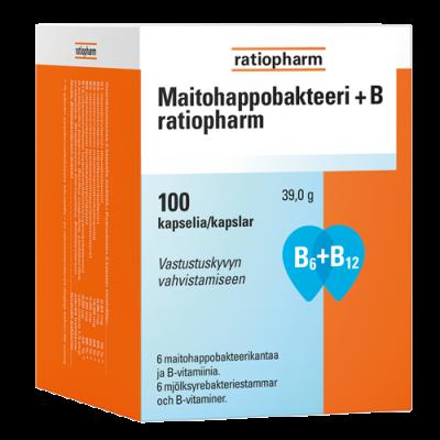 MAITOHAPPOBAKTEERI + B RATIOPHARM 100 KAPS