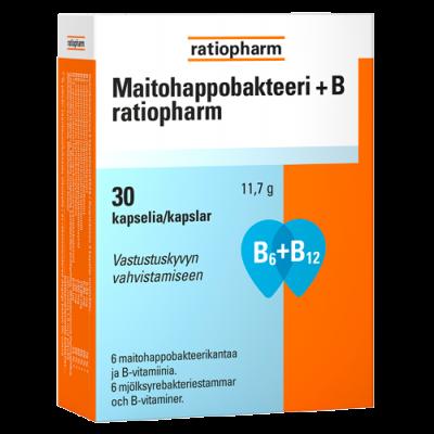 MAITOHAPPOBAKTEERI + B RATIOPHARM 30 KAPS