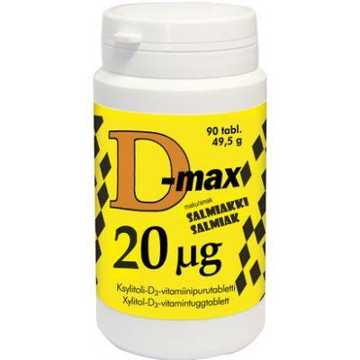 D-MAX 20 MIKROG SALMIAKKI 300 tabl