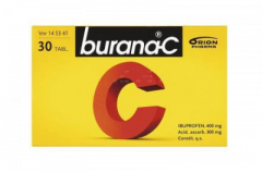 BURANA-C 400/300 mg tabl, kalvopääll 30 fol